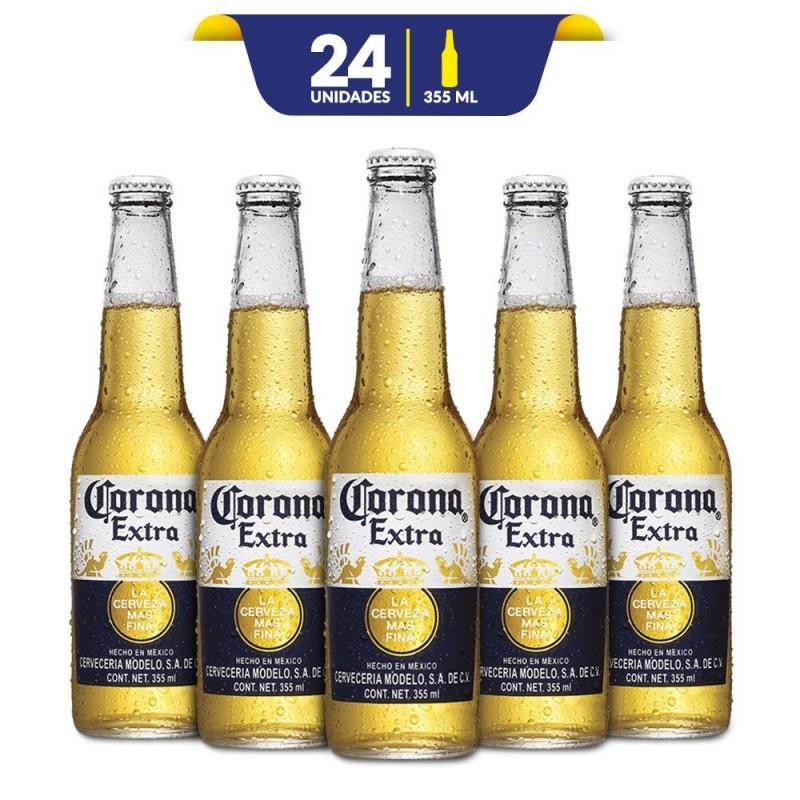 162601cfbec Cerveza Corona Extra con 24 Botellas de 355ml c/u Retornable